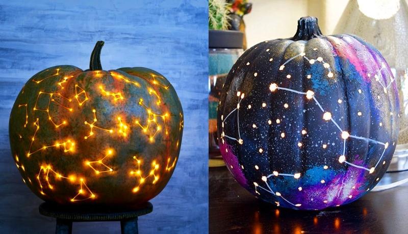 galaxy pumpkin