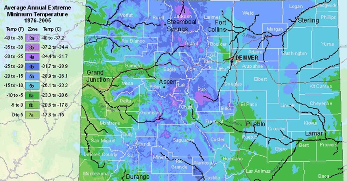 colorado hardiness zone map